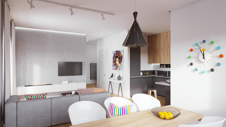 Mieszkanie w Dąbrówce - salon